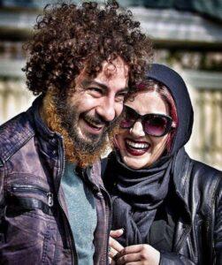 نوید محمد زاده و باران کوثری در پشت صحنه لانتوری