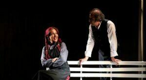 پانته آ بهرام در صحنه ای از تئاتر