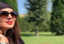 لیلا بلوکات با عینک آفتابی - کرونا لیلا بلوکات