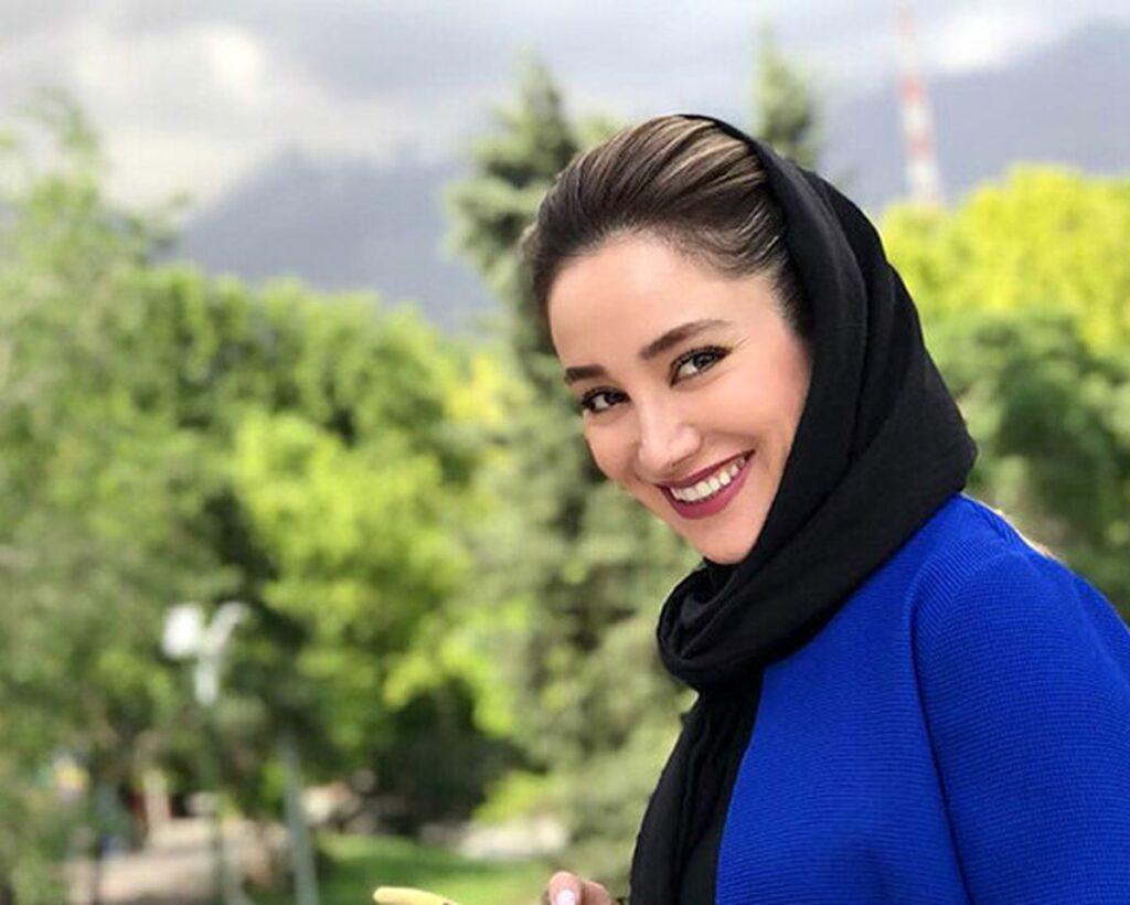 بهاره افشاری با شال مشکی - معجزه زندگی بهاره افشاری
