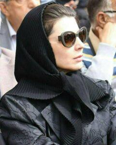 لیلا حاتمی در مراسم تشییع جنازه داوود رشیدی