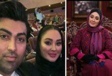 همسر الهام حمیدی در مراسم