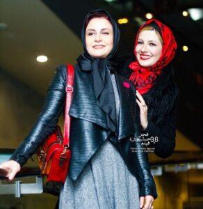 مریلا زارعی به همراه خواهرش در جشنواره فیلم فجر