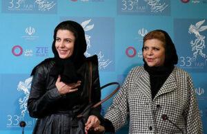 لیلا حاتمی در کنار مادرش