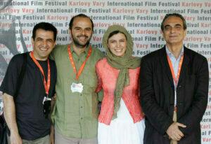 لیلا حاتمی و همسرش در یک جشنواره