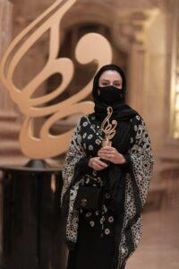 مریلا زارعی با ماسک در جشن حافظ