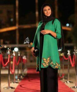 تیپ آزاده صمدی در جشن حافظ