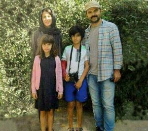 لیلا حاتمی و همسر و فرزندانش