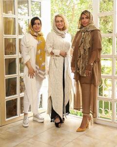 تیپ لاکچری مریم کاویانی در کنار دوستانش