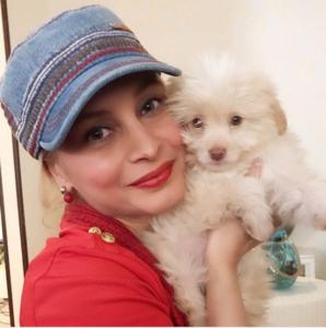 مریم کاویانی و توله سگش