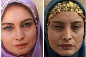 تست گریم پیر و جوانی مریم کاویانی در سریال افسانه هزارپایان
