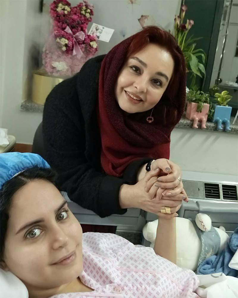 الناز شاکردوست در بیمارستان با ماهایا پطروسیان
