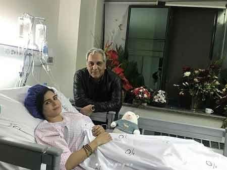 الناز شاکردوست در بیمارستان با مهران مدیری