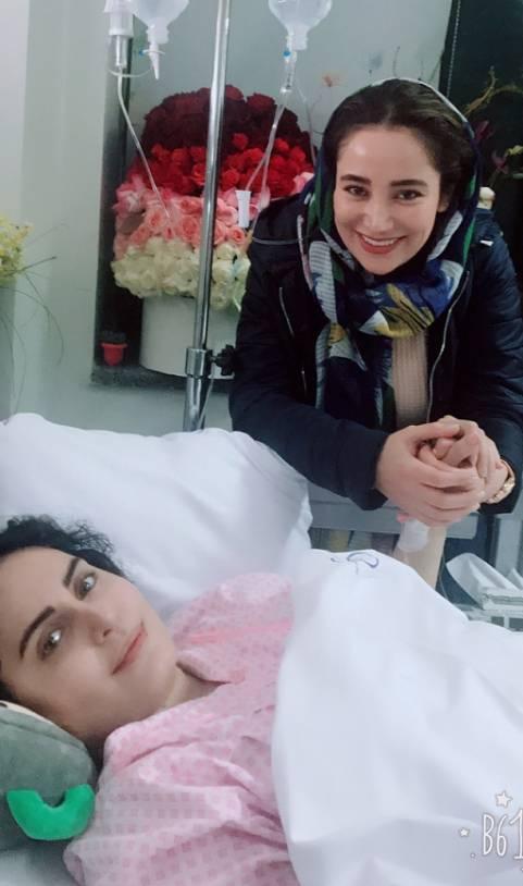 الناز شاکردوست در بیمارستان با بهاره افشاری