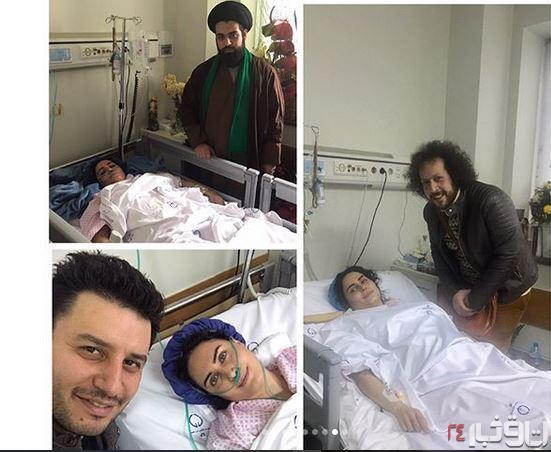 الناز شاکردوست در بیمارستان با جواد عزتی